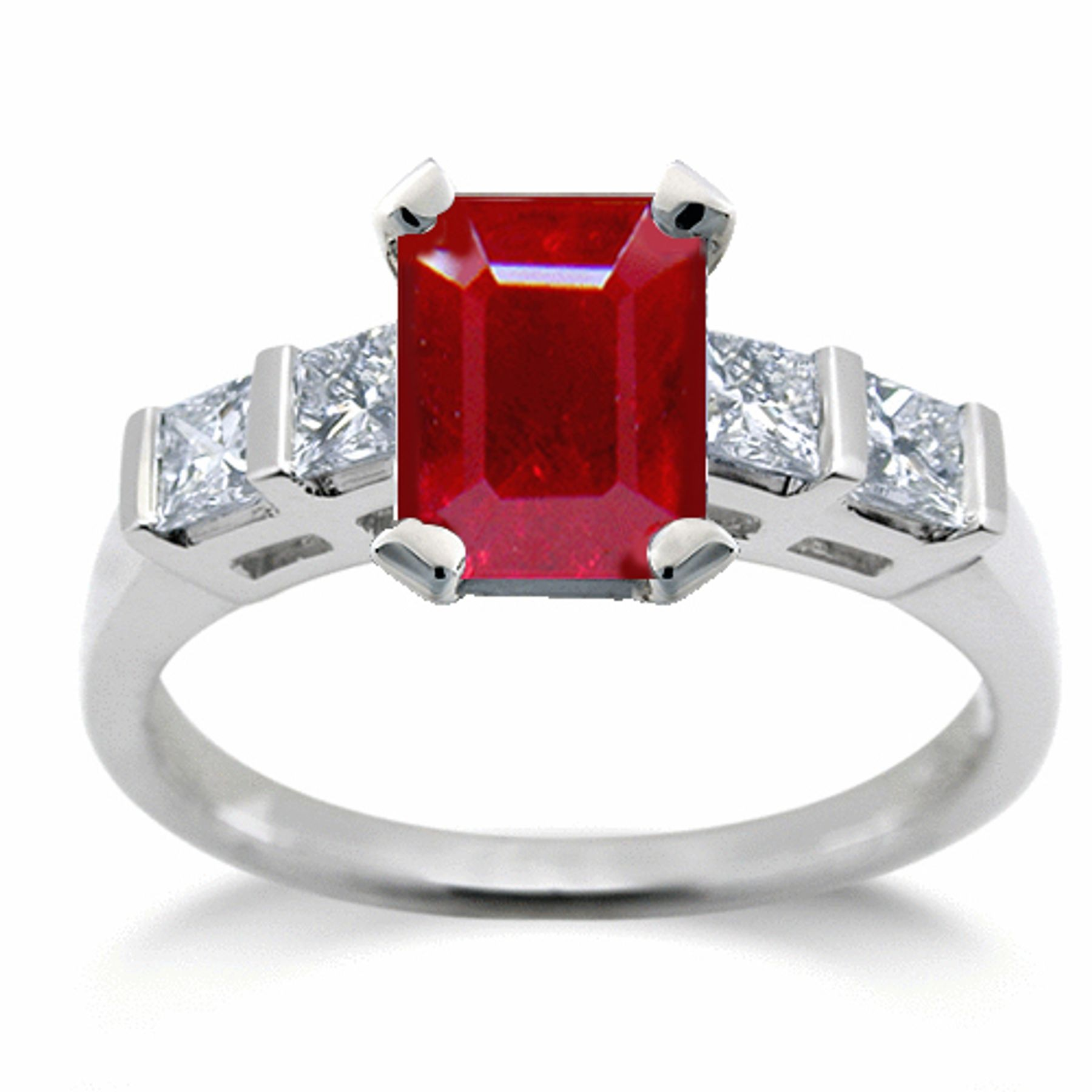 Ruby Engagement Ring: Ruby Oval and Diamond Pears Anniversary rings