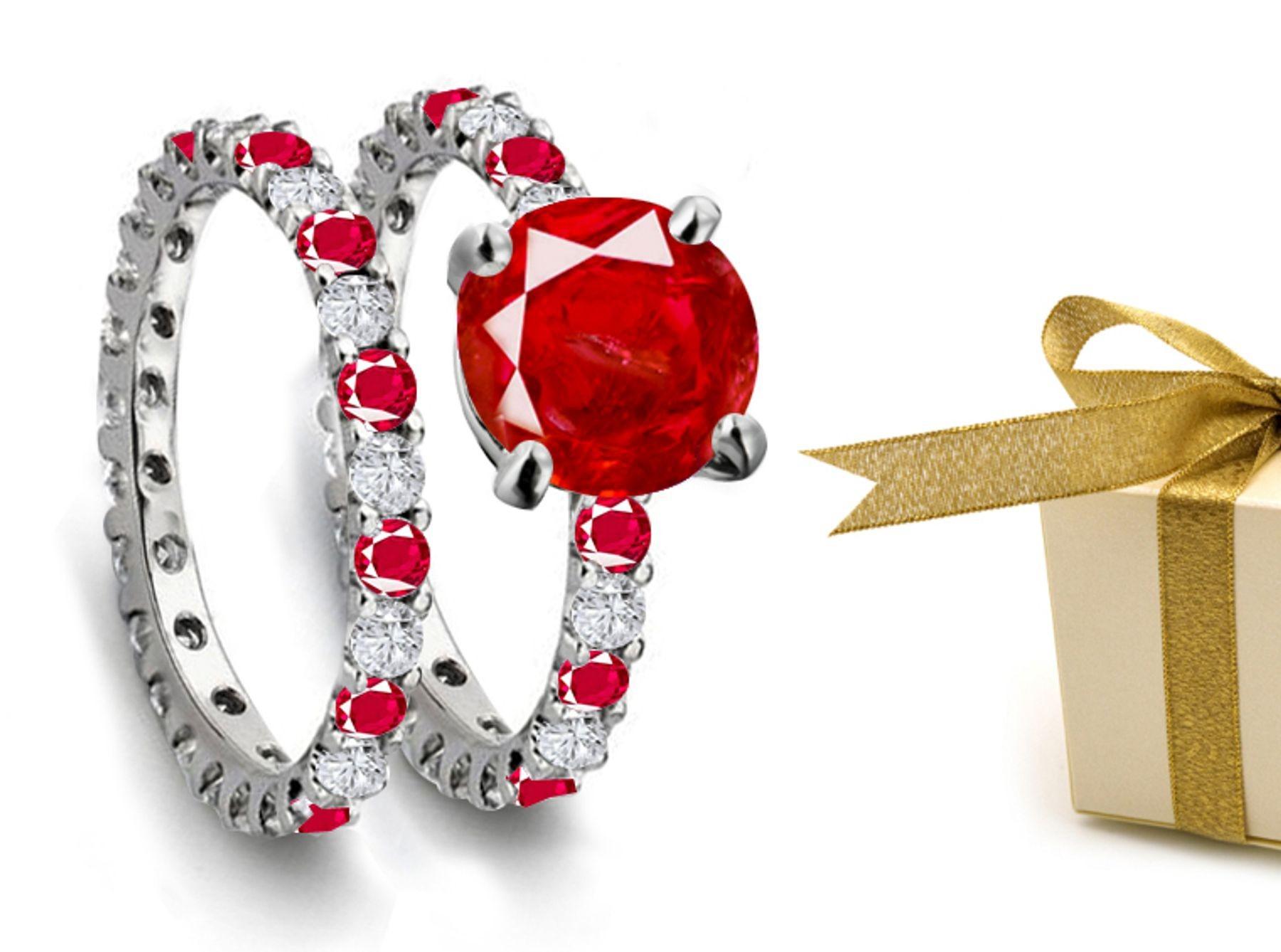 Design & Style: Ruby & Diamond Engagement Wedding Ring