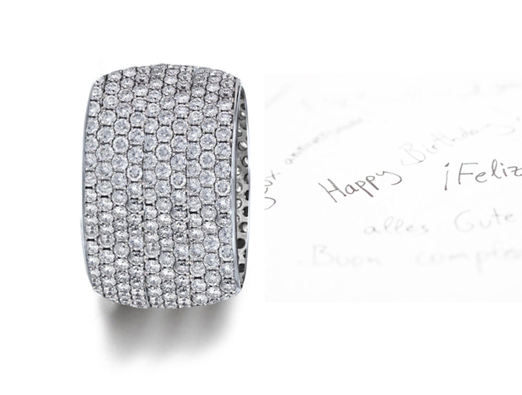 MicropaveeDiamonds 10 DiamondRowWedding Ring in Platinum & Gold
