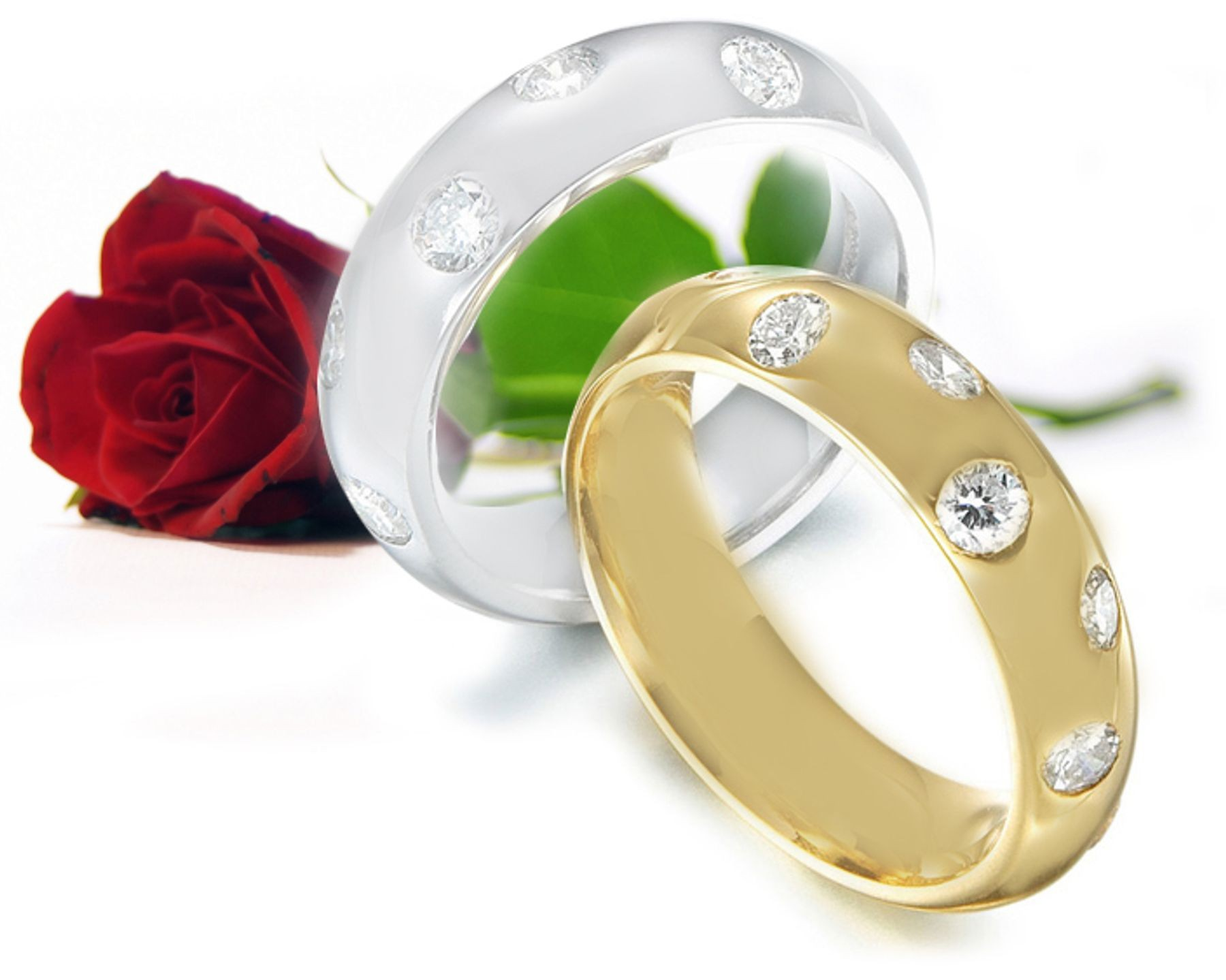 His Her Diamond Eternity Ring in Platinum
