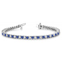 Sapphire & Diamond Bracelet and Necklace