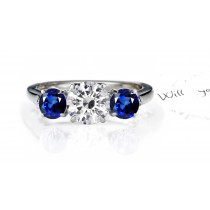 Classical Essential:An Exceptional Royal Blue Sapphire & Diamond Engagement Ring.