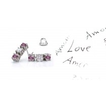 Premier Colored Diamonds Designer Collection - Pink Colored Diamonds & White Diamonds Round Pink Diamond Earrings