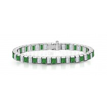 New Emerald & Diamond Bracelet and Necklace