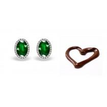Fancy Designer Colored Gemstone Jewelry: Blue Sapphire & Diamond Studded Earrings