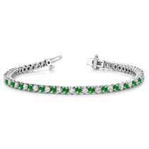 Emerald & Diamond Bracelet and Necklace