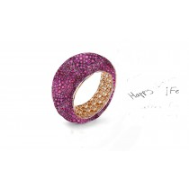 Enjoy The Magic of Delicate Eternity Rings Featuring Diamonds & Rubies, Emeralds & Sapphires