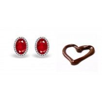 NEWEST DESIGNS Designer Colored Gemstone Jewelry: Blue Sapphire & Diamond Studded Earrings