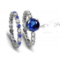 Finest: Blue Sapphire & Diamond Wedding & Engagement Rings