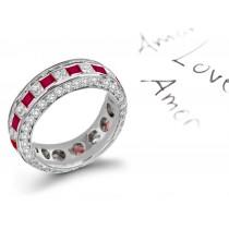 Celebrate Love: Ruby & Diamond Eternity Wedding Anniversary Band