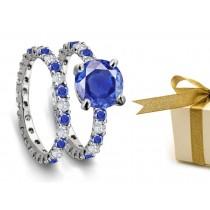 Forever: Sapphire & Diamond Wedding & Engagement Rings