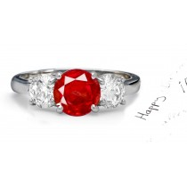 As Red As Your True Love: Sparkling Vivid Ruby Diamond Engagement Ring