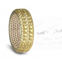 pave Set Yellow Sapphire Eternity Ring in Goldd For More Information