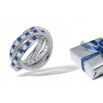 Diamond & Sapphire Eternity Rolling Rings
