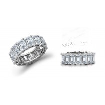Favorite & Staple: 3.50 Carats of High-Quality Emerald Cut Diamonds Set Shared Prong in a Tailored Design