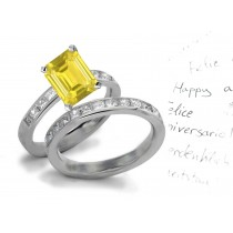 Stunning Jewels: Yellow Sapphire & Diamond Engagement & Wedding Rings in New Styles