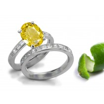 Style & Design: Pure Rich Yellow Sapphire Diamond Engagement & Wedding Bands