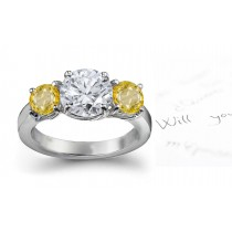 Pure & Sparkling: Yellow Sapphire & Diamond Engagement Ring