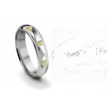 Burnish Set Heart Yellow Diamond Eternity Ring