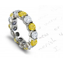 New Arrivals - Sun Yellow Sapphire & Diamond Ring Shows Saffron Color Fire