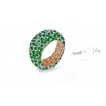 Enjoy the Magicof White Diamonds and Colored Stone Eternity Rings and Bands