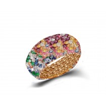 Eternity Ring with RainbowSapphires in Gold or Platinum