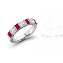 Everlasting Love: Gold Ruby & Diamond Wedding Anniversary Eternity Ring