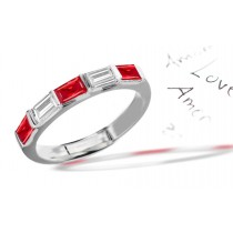 For All The Love: Platinum Ruby & Diamond Wedding Anniversary Eternity Ring