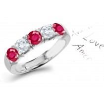 Special Effects: Gold Ruby & Diamond Wedding Anniversary Eternity Ring