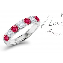 Fire Engine Red: Lovely Ruby & Diamond Wedding Anniversary Eternity Ring