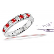 Love Stories: Platinum Ruby & Diamond Wedding Anniversary Eternity Ring