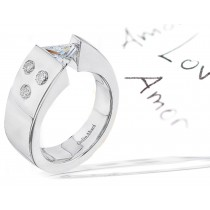 Diamond Tension Set Ring Setting