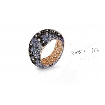 For Weddings or Anniversaries - Eternity Rings Featuring Diamonds & Rubies, Emeralds & Sapphires