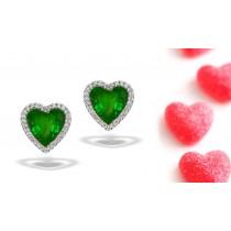 Assorted Designer Colored Gemstone Jewelry: Blue Sapphire & Diamond Studded Earrings