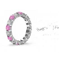 Hand Engraved: Elegant Hand Engraved Diamond & Sapphire Wedding Rings