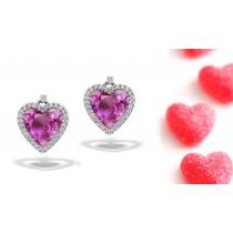 New Designs Designer Colored Gemstone Jewelry: Blue Sapphire & Diamond Studded Earrings