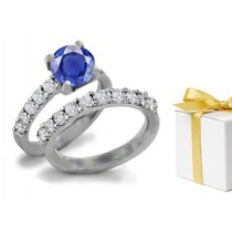 Fine Blue Sapphire Variety: The Most Unique, Rare Deep Blue Sapphire & Diamond Set in White Gold, Sterling Silver Ring