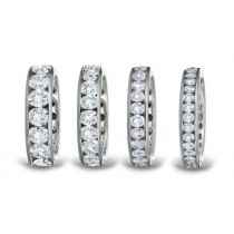 Stones of Brilliance: Stackable Platinum Diamond Eternity Band Ring with Matched Brilliant Cut Round 40 Diamonds Channel-Set Size 3 to 8
