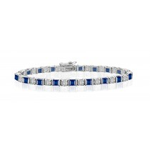 Premier Designer Colored Gemstone Jewelry Collection: New Blue Sapphire & Diamond Bracelet and Necklace
