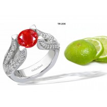 New Arrivals: Designer Diamond & Ruby Tension Set Diamond Engagement Rings