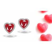 NEWSET STYLES Designer Colored Gemstone Jewelry: Blue Sapphire & Diamond Studded Earrings