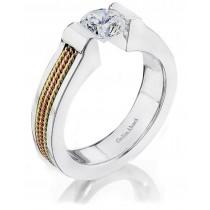 Platinum White Gold Tension Ring