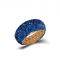 Eternity Ring with Blue Sapphires in Gold or Platinum