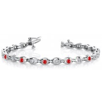 Ruby & Diamond Serpent Bracelet and Necklace