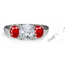 Enchanting:Most Stunning Ruby & Sparkling Diamond Engagement Ring
