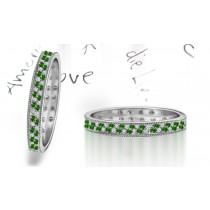 New Milgrain Emerald & Diamond Eternity Ring