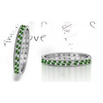 New Milgrain Emerald & Diamond Eternity Ring