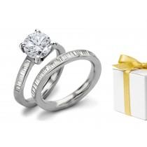 Premier Designer Diamond Engagement & Wedding Rings Set