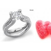 Modern Settings: Tension Set Precious Gemstone Ladies Solitaire Rings