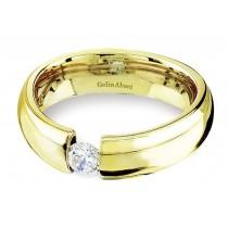 Platinum Gold Tension Set Ring